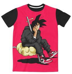 Wholesale Sublimation Shirt Printing - 4 Styles Real USA Size custom made Goku Purgatory II Fashion 3D Sublimation print T-shirt