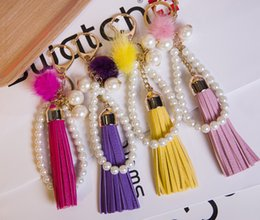 Wholesale Car Following - New Tassel premium car key chain handbags accessories DIY following couples