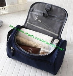 Wholesale Real Leather Clutch Bags - Top Grade Black Plaid Real Leather Men TOILETRY POUCH N47625 Fashion Designer Clutch Bag