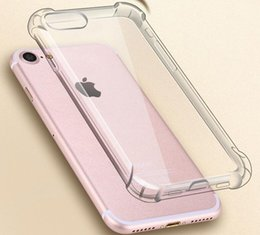Wholesale Cheap Iphone Backs - Cheap Wholesale Shockproof Transparent Case for iPhone X 8 7 6 6S Plus Soft Gel TPU Case Clear Back Cover for Samsung S8 S8Plus free ship