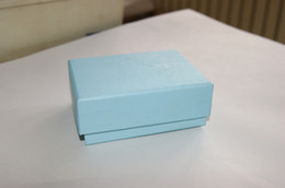 Wholesale Brooch Boxes - [Simple Seven] Free Shipping Exquisite Blue Jewelry Box  Bracelet Display Brooch Case  Pendant Necklace Box Gift Package for Women Jewelry