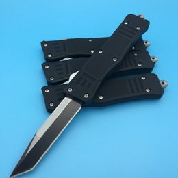 Wholesale Tactical Knife Pouch - Free Shipment Micro Black Handle Combat A161 A16 UTX-70 440C Steel Navy Scarab Halo knife knives with nylon pouch