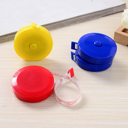 Wholesale Wholesale Measuring Tapes - New portable 1.5m retractable ruler centimeter inch tape measure mini ruler Colorful cute design Great for travel camping
