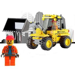 Wholesale Toy City Buildings - City Construction Bulldozer Building Blocks Compatible with lego City Develop Intellectual Toys Assemble Toys Kids Birthday Gift