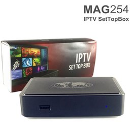 Wholesale Smart 2in1 - MAG254 Android Smart TV Box Set Top Adult IPTV 2in1 Arabic Internet Boxes MAG 254 Home STB Google Media Player DHL Free Shipping
