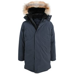 Wholesale Winter Hats Wolf Fur - CMFR winter Man long down Parkas with real wolf fur collar Korean yards thick down jacket