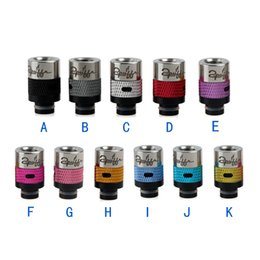 Wholesale Dct Atomizer Clearomizer - Flyskytech New Drip Tips Adjustable airflow Wide Bore Drip Tip for 510 EGO Protank DCT Clearomizer RDA E Cigarettes mods Vaporizer Atomizers