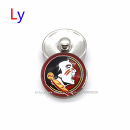 Wholesale European Ring Charm - Noosa chunks Pendant Bracelet 18mm Snap button Florida State NACC University sports interchangeable jewelry for Sports fans NE0034