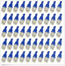 Wholesale Super Led W5w - 100Pcs Super White T10 Wedge 5-SMD 5050 LED Light bulbs W5W 2825 158 192 168 194 wholesale price