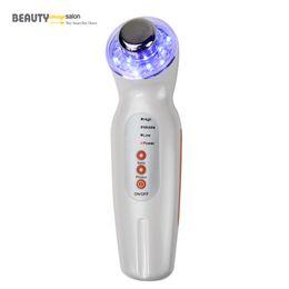 Wholesale Portable Ultrasound Facial - Portable Mini Beauty Massage 3 Colors Photon 3MHz Facial Lifting Ultrasound Skin Rejuvenation Wrinkle Removal Device