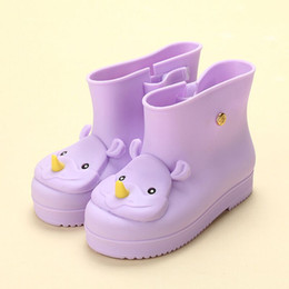 Wholesale Baby Rainboots - New Children Shoes Waterproof Baby Child Rain Boots Mini Girls Jelly Soft Shoes Toddler Kids Girl Infant Shoe Botas KH2S