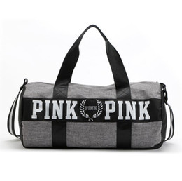 Wholesale 2017 Canvas secret Storage Bag organizer Large Pink Men Women Travel Bag Waterproof Victoria Casual Beach Exercise Luggage Bags