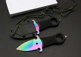 Wholesale Wholesale Wolf Keychain - New War Wolf Daggers Pocket Fixed Blade Knife Keychain Tactical Hunting Survival Rescue Neck Knife Utility EDC Tools