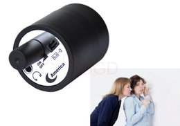Wholesale Spy Listening Monitors - Wall Audio Spy Bug Voice Listening Monitor Device Through Door Wall Cylinder Listening Amplifer with EU US Charger in Retail Box