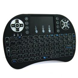 R teclado online-Rii I8 Smart Fly Air Mouse luz de fondo remota 2.4GHz Teclado inalámbrico Touchpad de control remoto para Android TV Box R Box mini teclado