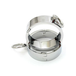 Wholesale Locking Wrist Ankle Restraints - Chrome-plated Steel Restraints Rings 2 Pieces with Magnet Locking Pins (S-M-L Size)