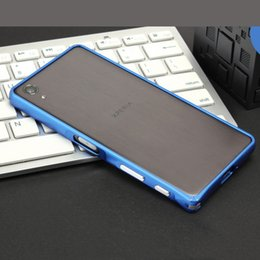 Wholesale Xperia Protective Cover - Luxury Metal Aluminium Frame Ultra Thin bumper case Cover For Sony Xperia X Performance Protective Case mobile phone cover