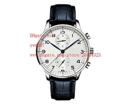 Wholesale Japanese Quartz Chronograph Movements - Factory Supplier Luxury AAA Brand Wristwatches 46 Japanese Quartz Movement Chronograph White Dial Mens Watches Sport Stopwatch