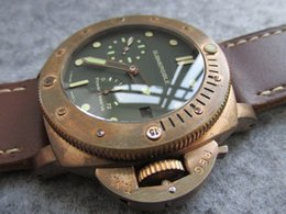 Wholesale Man Submersible Watches - 47MM pam507 pam00507 pam 507 real bronze case tough men Submersible 1950 Power Reserve Automatic P.9002 Bronzo watch KW men wristwatch