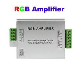 2019 conector impermeable led pin Amplificador RGB para LED Light Strip 12A 12V Singal Power amp Repeater 144W para 5050 3528 Tiras flexibles Cuerda CE ROSH