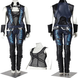 Wholesale super heroes costumes - Handmade Free Shipping HOT Sale COS Guardians of the Galaxy Gamora Cosplay Costume Custom Made Full Set Halloween Customize Uniform