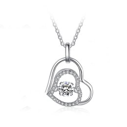 Shop 925 silver diamond pendants uk 925 silver diamond pendants 925 silver diamond pendants uk top seller heart charm jewelry 925 sterling silver necklace with aloadofball Image collections