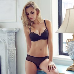 Wholesale Women Bar Push Up - Wholesale-2016 Summer high quality Women Push Up bra set Underwear Lace bar And Sexy Lingerie lace bra and pants set 32 34 36 38 B C Cup