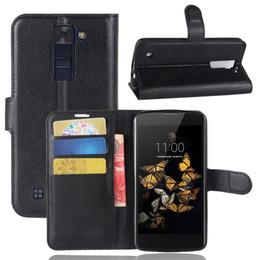 Diforate Yeni Varış Lüks Deri Cüzdan Telefon Kapak Kılıfı Kılıf Için LG K8 / Phoenix 2 / K350N nereden anka kuşu örtüsü tedarikçiler