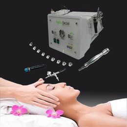 Wholesale Microdermabrasion Diamond Peeling - 3in1 portable Diamond Microdermabrasion beauty machine oxygen skin care Water Aqua Dermabrasion Peeling hydrafacial SPA equipment