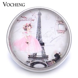 Wholesale Little Girls Jewelry Wholesale - VOCHENG NOOSA Wholesale Little Girl Button 18mm Glass Tower Snap Jewelry Vn-1207