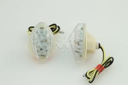Montaje empotrado ámbar led online-Flush Mount Clear Lens 15 Amber LED Indicadores de luz intermitentes para Honda CBR 600RR 1000RR 2004-2008 / CB 919F 2000-2008