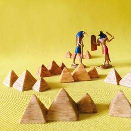 10Pcs пирамида известная архитектура статуя / фея сад гном / мох террариум домашний декор / ремесла / бонсай / миниатюры / фигурка от Поставщики декоративные статуи