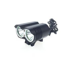 Argentina [2 pilas incluidas] Luz de bicicleta LED 5000 Lm 2 * C-XM-L T6 Lámpara de luz LED para bicicleta Cabezal delanteroLuz 8.4V 18650 Cargador de batería cheap led battery pack 8.4v Suministro