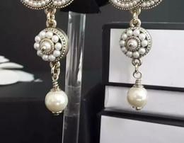 Wholesale Earrings Brands - Fashion retro drop earrings for women Luxury earring accessories jewelry Wedding earrings Brand long earrings for gift