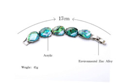 Wholesale Turquoise Chunky Bracelet - Silver Plated Europe Popular Women Fashion Jewelry 2015 Trendy Big Gem Chunky Party Turquoise Bracelet Cheap jewelry ankle bracelets