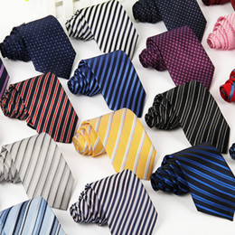 Wholesale Plain Skinny Ties - Hot Sale Business Casual Neck Ties Mens Striped Printing Arrow Office Necktie Party Wedding Ties Fashion Accessories Multicolors Free Ship