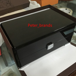 Wholesale Antique Brown - Watches box same as original wooden box with paper bag dust bag top quality luxury style
