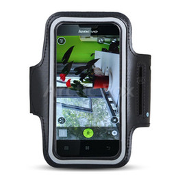 Wholesale lenovo waterproof - Wholesale- Top Quality Universal Waterproof Running Jogging Cycling Sport Armband Mobile Phone Holder Case Cover for Lenovo P780 MTK6589 L