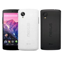 Wholesale Google Nexus Phones - Original Google LG Nexus 5 Nexus5 4.95 inch Quad Core Smartphone D820 D821 2GB 16GB Unlocked Phone Refurbished Black White
