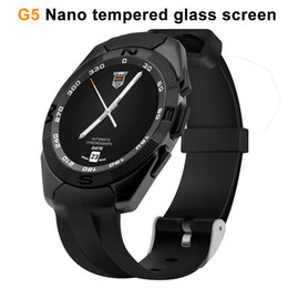 Wholesale Touch Generations - G5 smartwatch MTK2502 for Apple android second generation waterproof stainless steel Mobile phone smart watches Bluetooth music touch Z60 A1