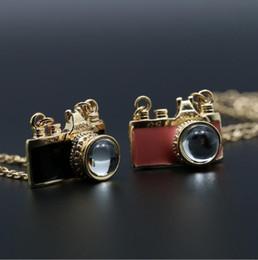 Wholesale Necklaces For Women Cameras - Retro Camera shape Necklaces Fashion jewelry cheap Alloy chain Hot necklaces & pendants necklace for women 2017 love 50 cm 2 color
