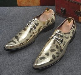 Wholesale Champagne Wedding Wedge Shoes - 2017 wedding shoes dress shoes mens business oxford shoes leather 1