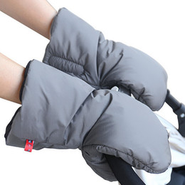 Wholesale Pram Covers - Waterproof Anti-freeze Pram Stroller Hand Muff Extra Thick Warm Pushchair Gloves Carriage Hand Cover