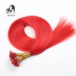 Wholesale Virgin Unprocessed Tip - JUFA Straight Fusion Human Hair Extensions Unprocessed Brazilian Virgin Hair Red Color 1g 1s Italian Keratin U Tip Pre-bonded Hair Extension