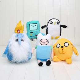Wholesale Adventure Time Bmo Plush - 15-31cm Cartoon Adventure Time Finn Jake BMO Ice King Penguin Plush toys Soft Stuffed Anime Dolls New Gifts
