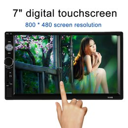 Wholesale Double Din Player - Auto radio 2Din Car Radio Double Din Car MP5 Player Touch Screen Panel Autoradio Player 7010B Support FM MP5 USB AUX Bluetooth