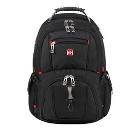 Wholesale Swiss Notebook - 2017 Brand Swiss Men's Backpack female Travel School Bag for quality Laptop 15Inch Notebook Computer bagpack waterproof Business