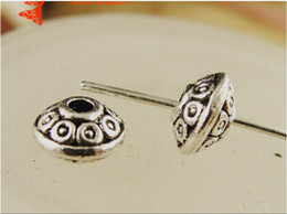 Wholesale Zinc Spacer Beads - A3974 6*8*1.8MM Zinc alloy plating ancient silver jewelry accessories handmade DIY metal beads small spacer charms BEADED Pendant