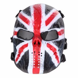 2019 máscara de malha metálica cheia Airsoft Paintball Máscara Do Partido Crânio Máscara Facial Completa Do Exército Jogos de Metal Ao Ar Livre Malha Olho Escudo Traje para o Dia Das Bruxas Fontes Do Partido máscara de malha metálica cheia barato