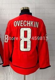 Wholesale Alexander Mix - #8 Alexander Ovechkin Jersey,Ice Hockey Jersey,Best quality,Embroidery logos,Authentic Jersey,Size M--XXXL,Accept Mix Order